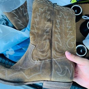 New. Leather FRYE Cowboy Boots. Men's Sz 11.